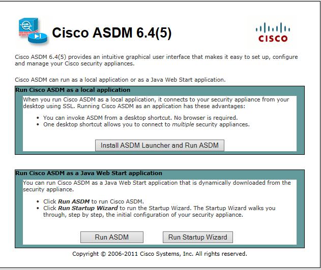 Cisco Study Notes: Lab Part 2: ASA and the ASDM