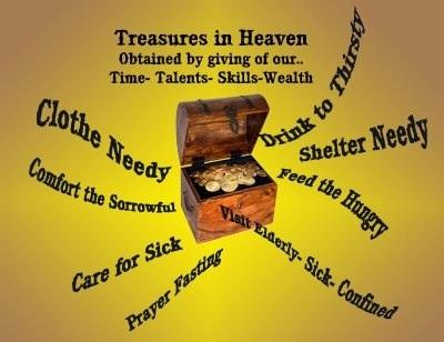 Store treasures in heaven