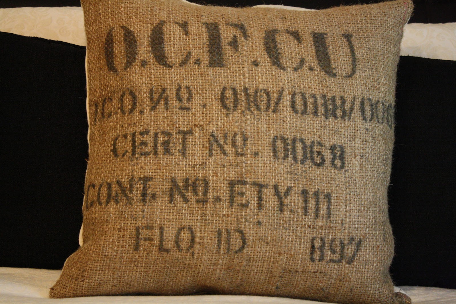Coastal Charm Burlap Coffee Sacks Rock