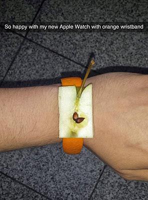 Apple watch and orange wistband