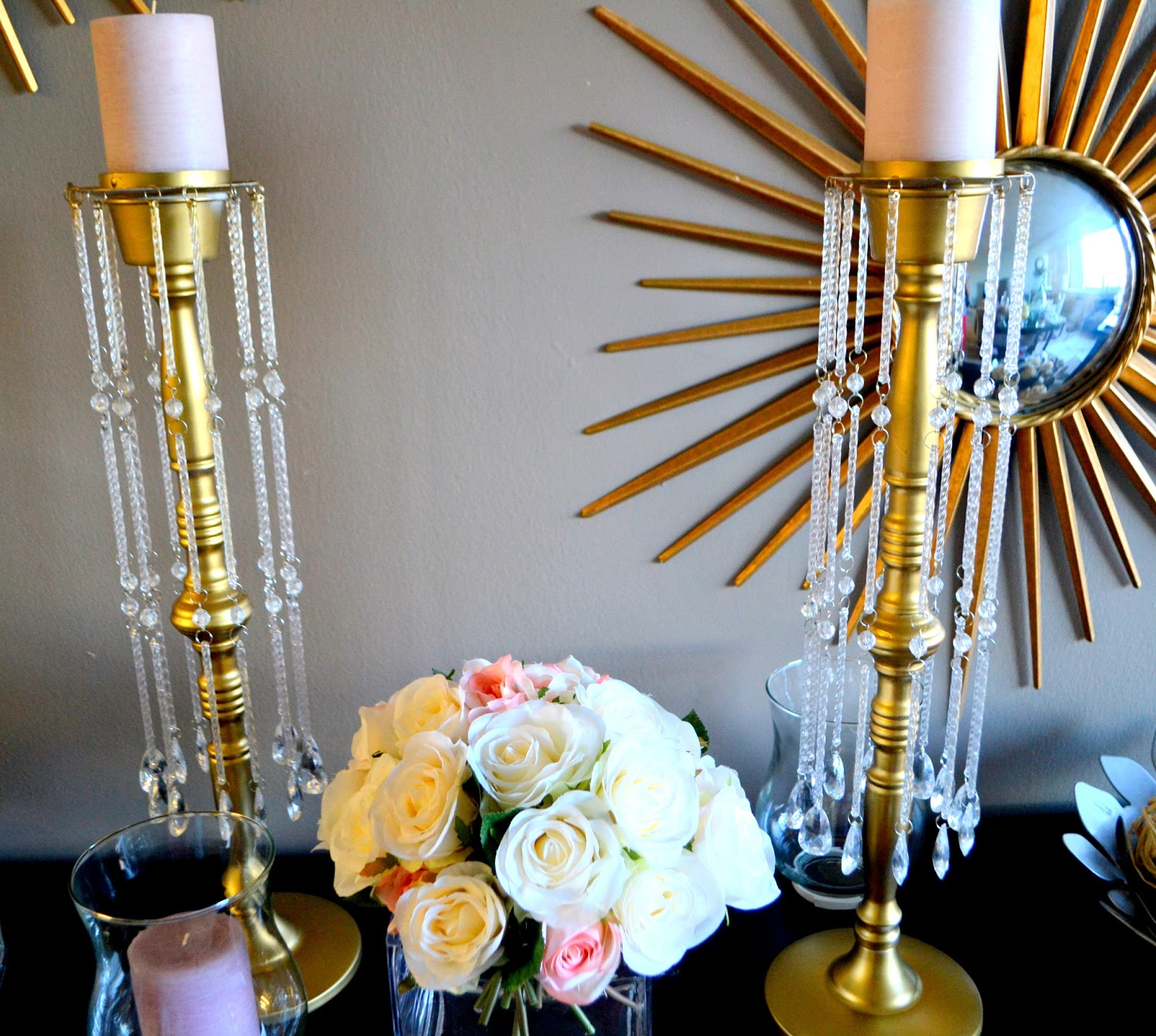 Diy Candelabra: THE ROSE COLORED AISLE: DIY- How To Make Your Own Gold