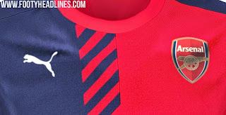 jual online Jersey training Arsenal pertama warna merah musim 2015/2016