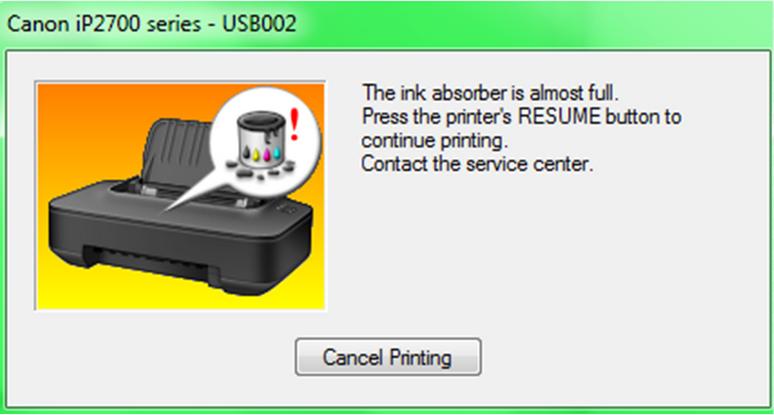 Perbaiki Printer Canon Pixma IP2770 Error 5B00