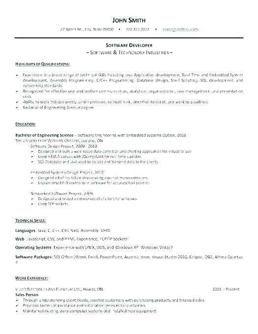Senior Java developer resume sample - Lebenslauf Vorlage Site