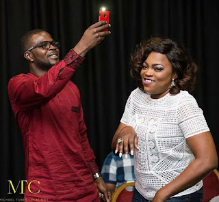 Funke Akindele and Husband celebrates 2nd year wedding anniversary.