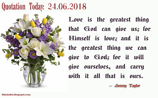 Quotation Today: 24.06.2018