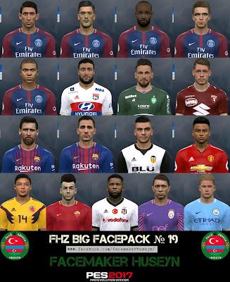 PES 2017 FHZ Big Facepack №19 by Facemaker Huseyn