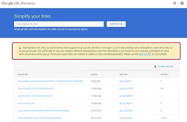 "Google تقوم باغلاق خدمة اختصار الروابط ""goo.gl""."
