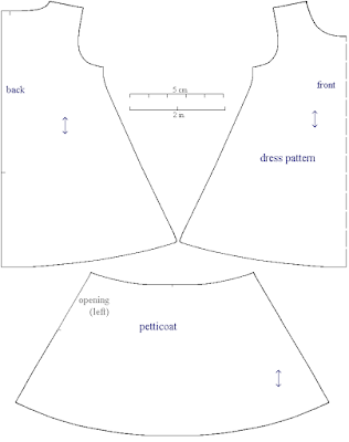 Pattern of dress