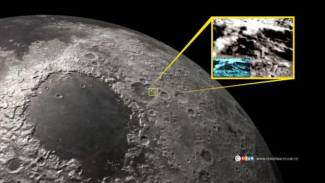 Resultado de imagem para Construção alienígena na Lua? 2016