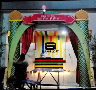 dekorasi gapura / gate event dengan styrofoam | dekorasi