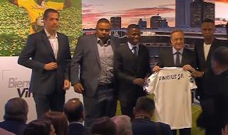 ريال مدريد يقدم لاعبه الجديد فينيسيوس جونيور
