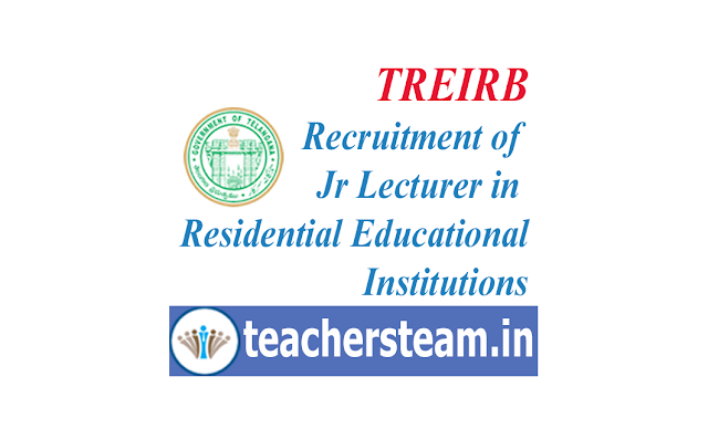 TREIRB jr lecturer recruitment