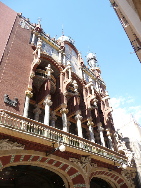 Барселона. Театр Каталонской музыки.