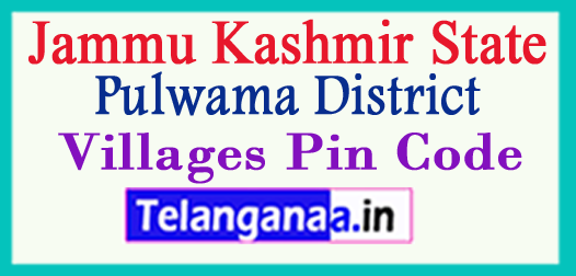 Pulwama District Pin Codes in Jammu Kashmir State