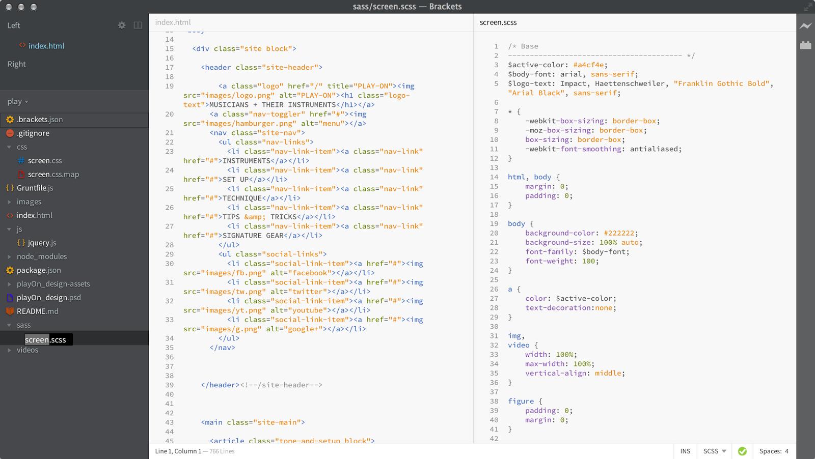 Software Download: Brackets text Editor download | Brackets