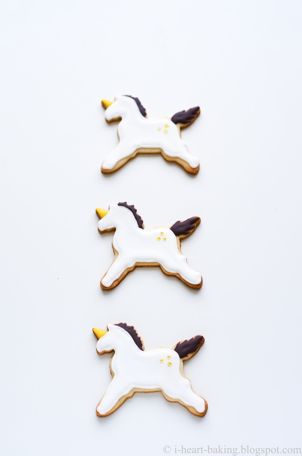 I Heart Baking Unicorn Cookies