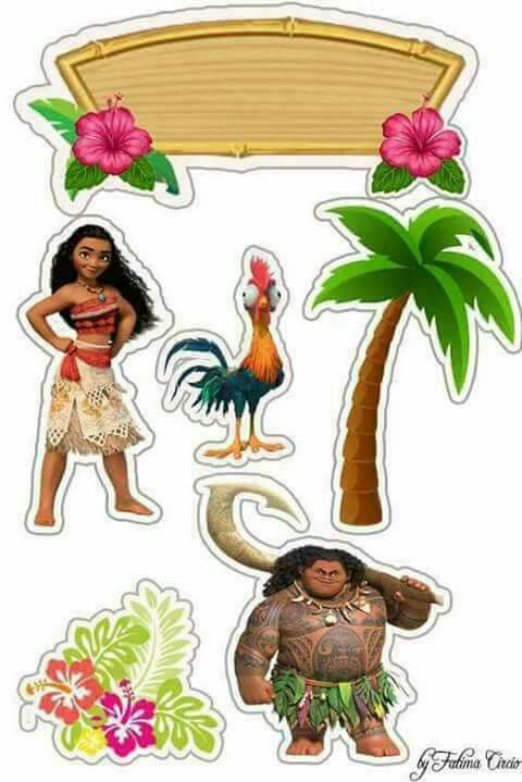 image about Printable Moana named Moana Bash Free of charge Printable Cake Toppers. - Oh My Fiesta! in just