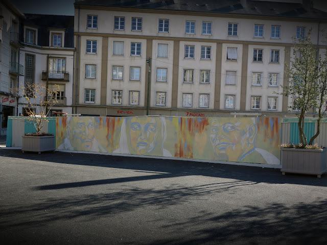 La nouvelle fresque murale Place Saint-Germain - 19 octobre 2015