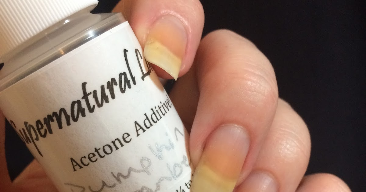 Tori\'s Adventures In Nail Art: Supernatural Lacquer Acetone Additive