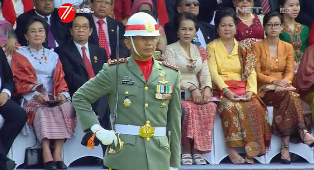 Komandan Upacara HUT Indonesia ke-71