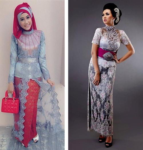 Model Kebaya 2019 Terusan Gamis Brokat