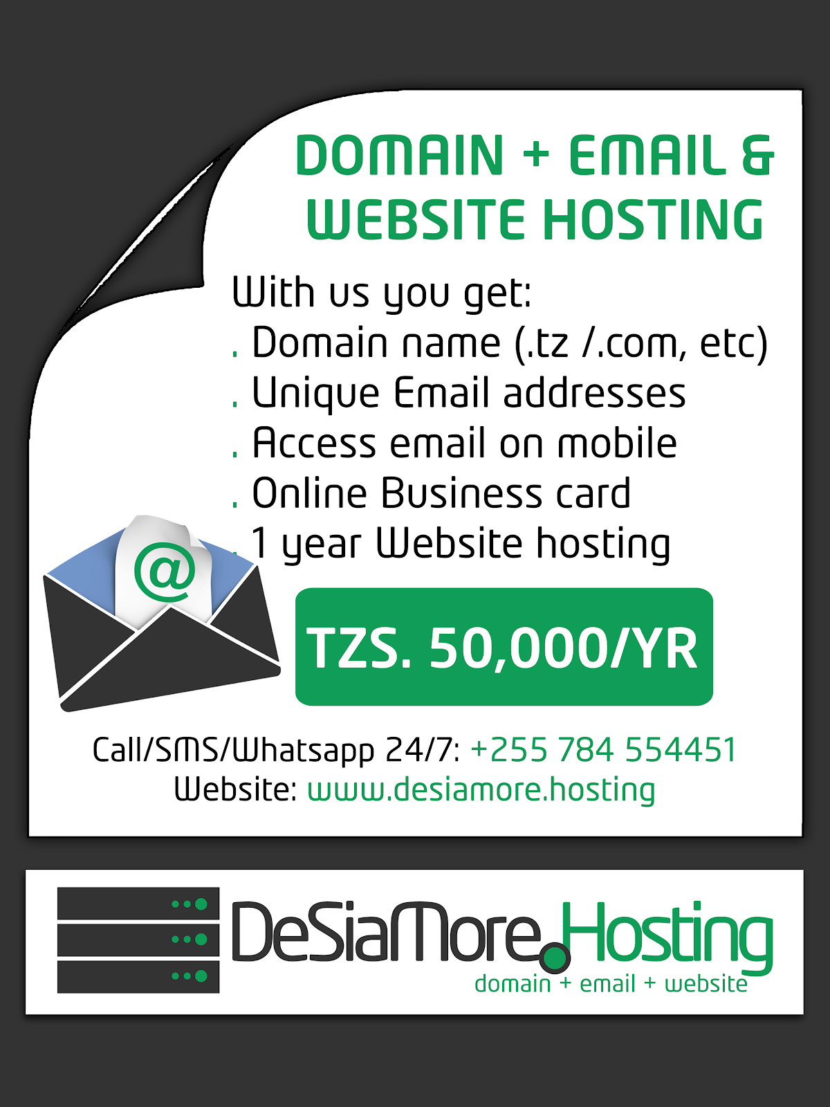 DeSiaMore Website Hosting