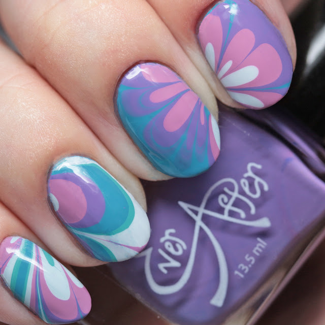 Ever After Polish Stamp It Up Collection Pastel Set water marble