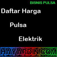 Daftar Harga Pulsa Elektrik