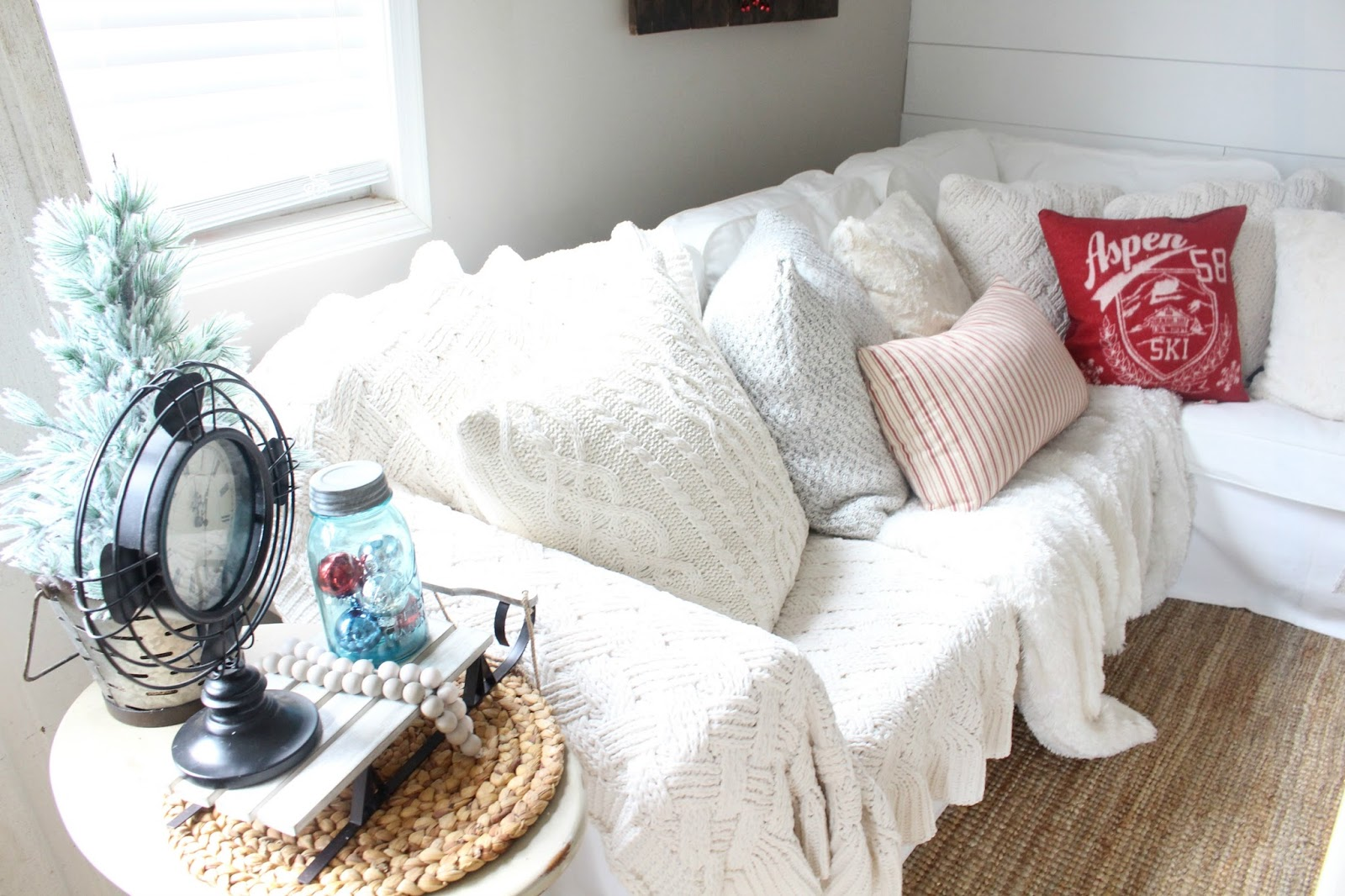 Home Goods Coffee Table Rustic Glam Christmas Living Room Tour The Glam Farmhouse