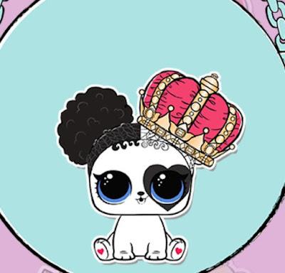 Очень редкий пес LOL Surprise с сердцем на глазу и короной P-031