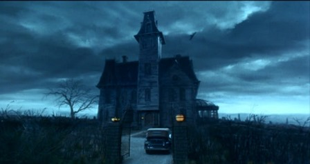 The Addams Gothic house matte painting