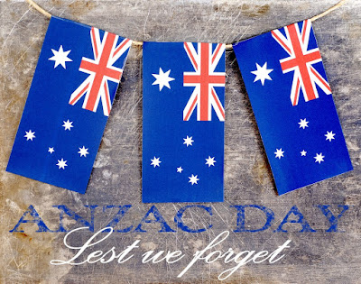 anzac day flags lest we forget