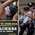 Teachers Broke Through QCHall To Protest Against The Mandatory Drug Testing For All Teachers