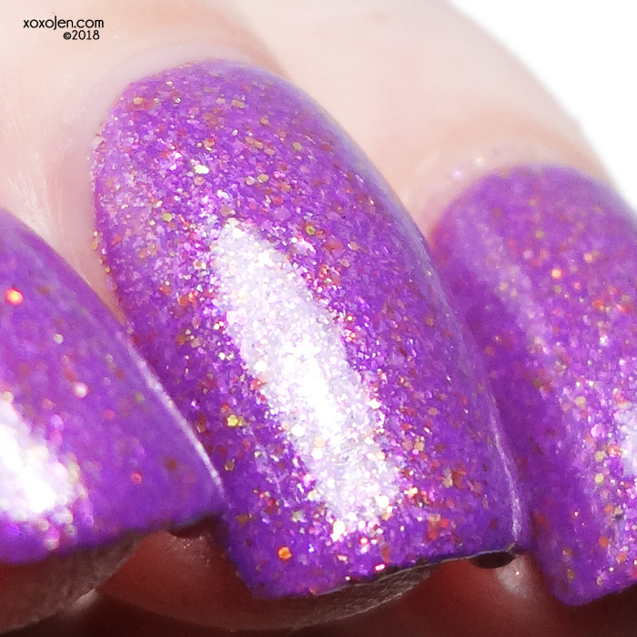 xoxoJen's swatch of Noodles Nail Polish Purple Dragon