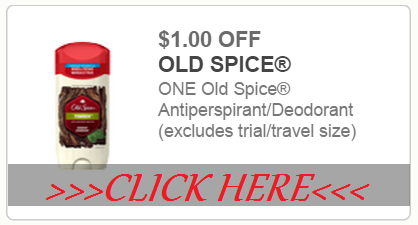 We have a new Old Spice coupon today. This one will save you a buck off a body wash or deodorant product. Here's the link to the new coupon: $1/1 Old Spice Odor Blocker or Sweat Defense Deodorant OR Dirt Destroyer Body Wash printable coupon (preclipped).