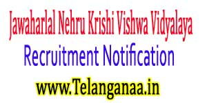 JNKVV (Jawaharlal Nehru Krishi Vishwa Vidyalaya) Recruitment Notification 2017