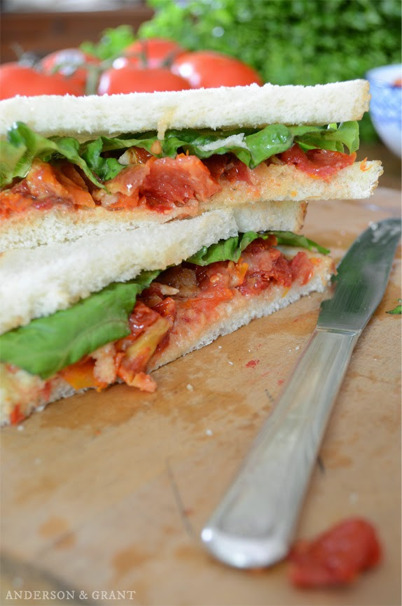 Stacked blt sandwich