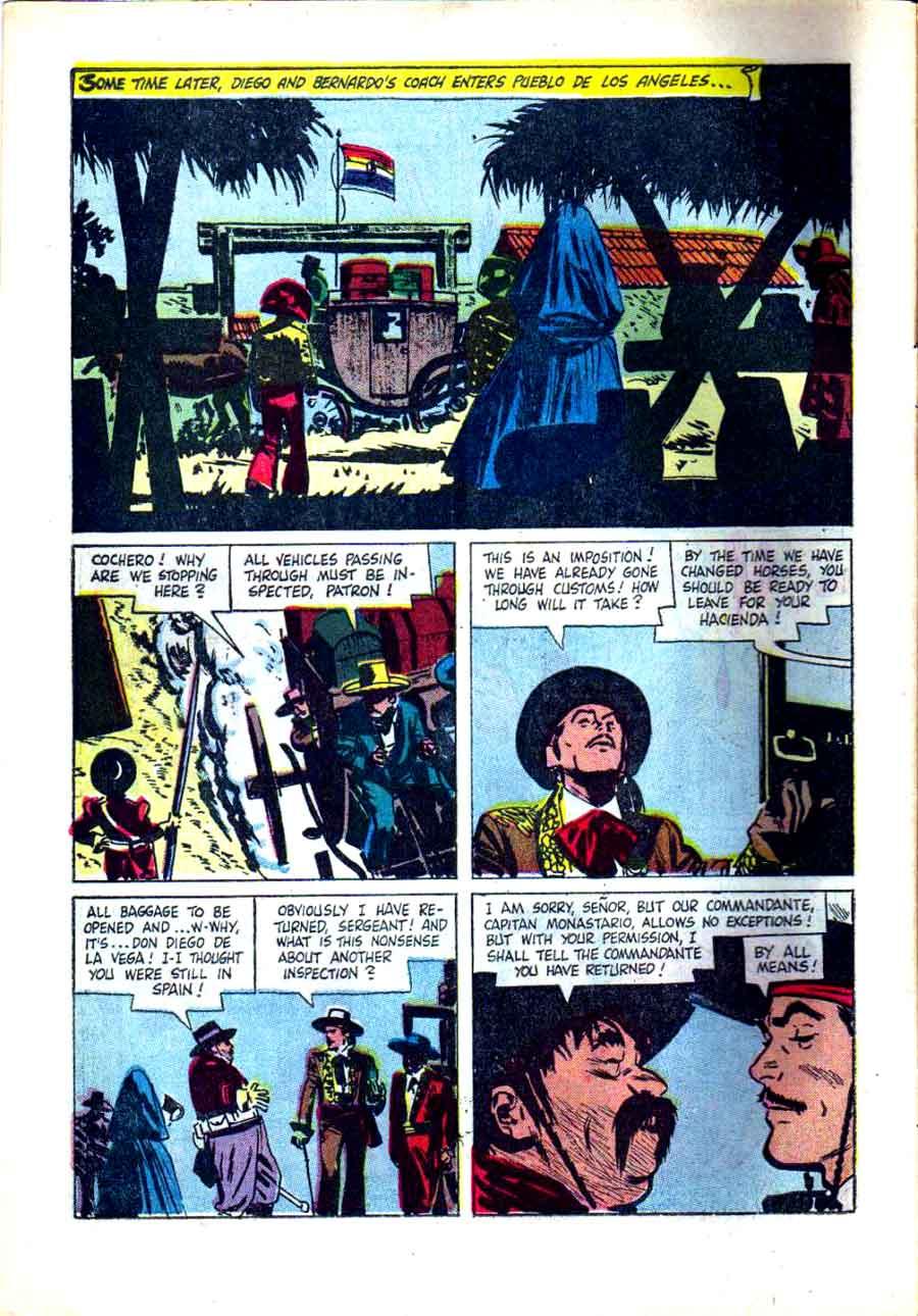 Zorro Four Color #882 1950s dell comic book page art by Alex Toth