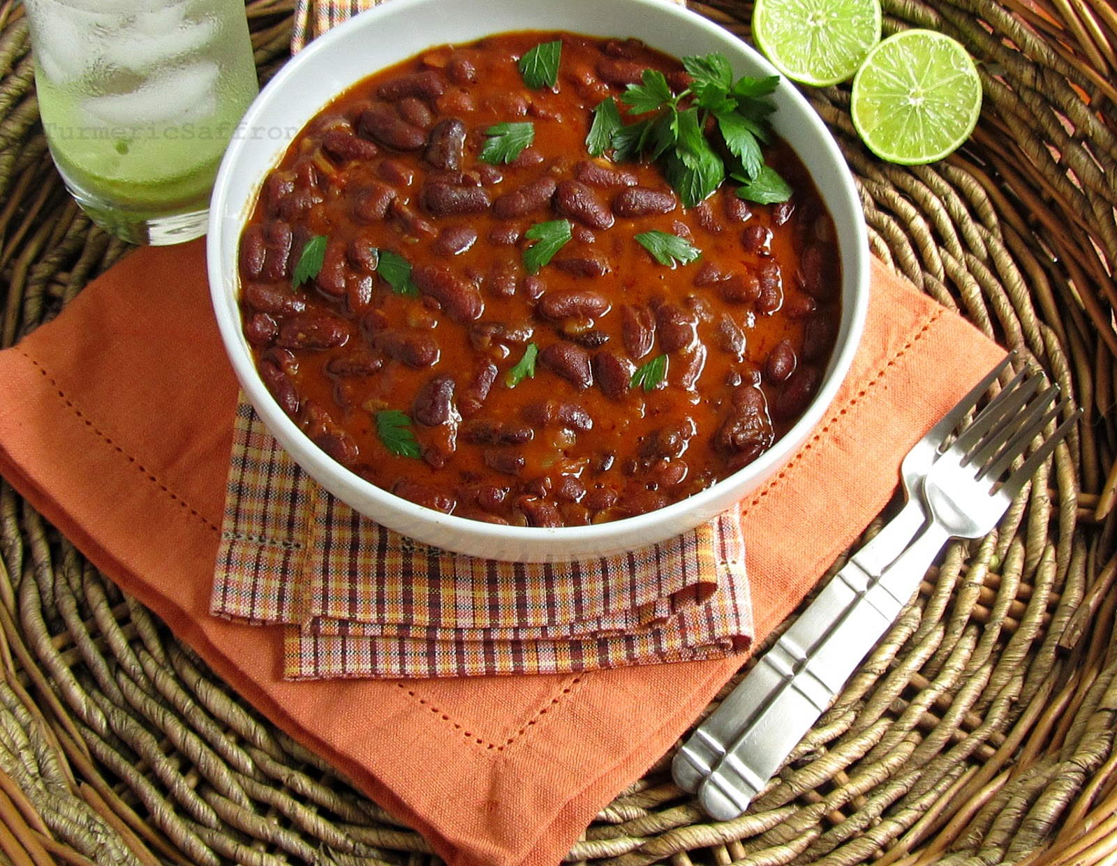 Turmeric saffron khorak e loobia red kidney beans side dish khorak e loobia red kidney beans side dish repost forumfinder Images