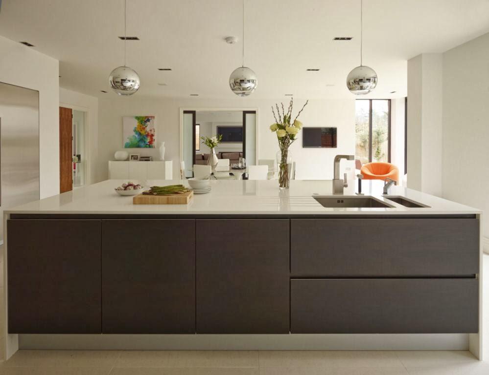 Un dise o actual que no sacrifica la funcionalidad - Cocinas blancas y gris ...