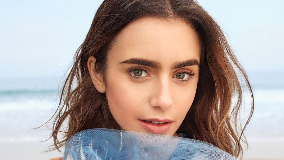 Lily Collins, Close-up, Beautiful, 4K, #4.2655