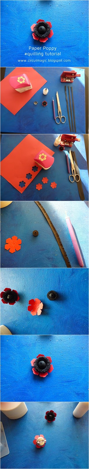 Tutorial Circul Magic Quilling: Floare de Mac din Hartie