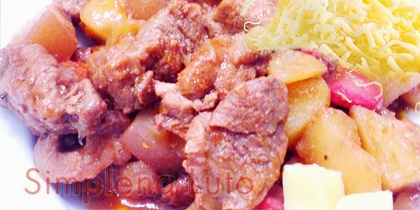 Pork Menudo with Cheese