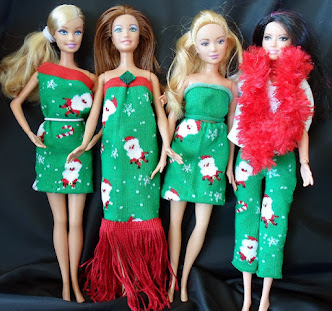 five barbie outfits from $1 pair of socks