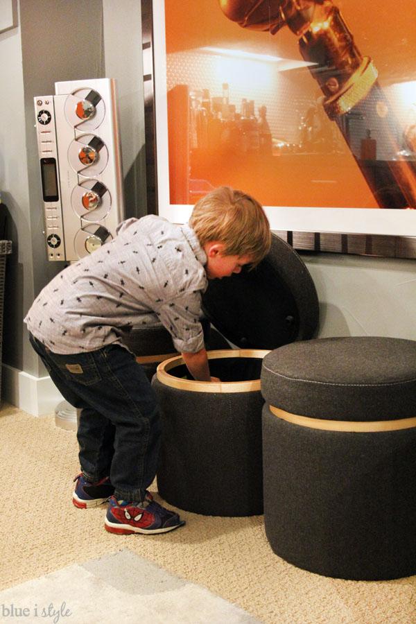Storage ottomans for toys