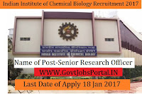 Indian Institute of Chemical Biology Recruitment 2017 for Senior Research Officer