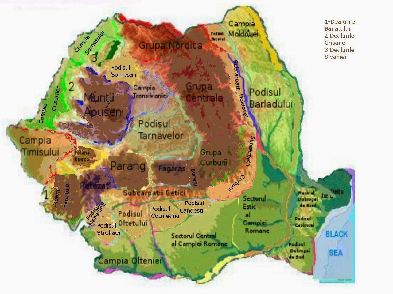 Ia Bac Ul Geografie Harti Albe Romania