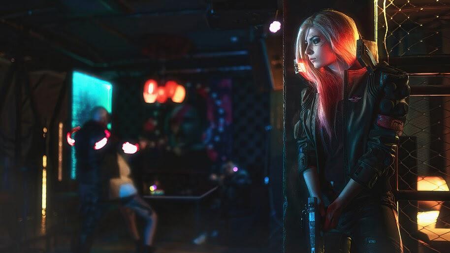 Cyberpunk 2077, Girl, 4K, #3.2273