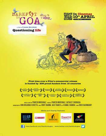 Poster Of Barefoot to Goa 2015 Hindi 300MB HDRip 720p HEVC Watch Online Free Download downloadhub.in
